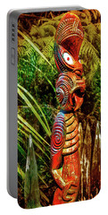 A Maori God In New Zealand Portable Battery Charger
