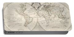 A Map Of The World Portable Battery Charger