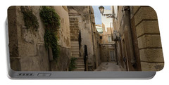 A Marble Staircase To Nowhere - Tiny Italian Lane In Syracuse Sicily Portable Battery Charger