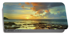 Portable Battery Charger featuring the photograph A Marmalade Sky In Molokai by Tara Turner