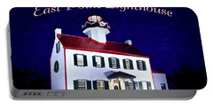 A Merry Christmas At East Point Lighthouse  Portable Battery Charger