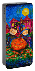 A Merry Halloween Portable Battery Charger