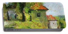 A Mighty Linden Tree At The Castle Portable Battery Charger by Dragica Micki Fortunaa m
