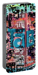 Portable Battery Charger featuring the mixed media A Million Colors One Calorie by Tony Rubino