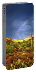 Portable Battery Charger featuring the photograph A Miracle Of Timing by Rick Furmanek