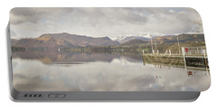 Portable Battery Charger featuring the photograph A Misty Ullswater by RKAB Works