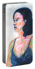 Portable Battery Charger featuring the painting A Modern Madame Bovary by Esther Newman-Cohen