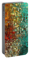 A Moment In Time - Abstract Art Portable Battery Charger