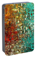 Portable Battery Charger featuring the painting A Moment In Time - Abstract Art by Carmen Guedez
