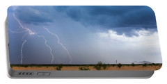 A Monsoon Storm Moves Across The Arizona Desert Portable Battery Charger