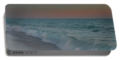 Portable Battery Charger featuring the photograph A Moonlit Evening On The Beach by Renee Hardison