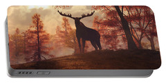 A Moose In Fall Portable Battery Charger by Daniel Eskridge
