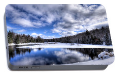 Portable Battery Charger featuring the photograph A Moose River Snowscape by David Patterson