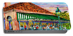 A Morning At Cafe Du Monde Portable Battery Charger