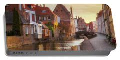 A Morning In Brugge Portable Battery Charger by JR Photography