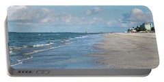 A Morning Walk On Fort Myers Beach Fort Myers Florida Portable Battery Charger