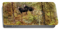 A Mother And Calf Moose. Portable Battery Charger