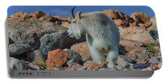 A Mountain Goat Pose Portable Battery Charger