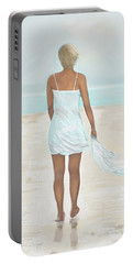 Portable Battery Charger featuring the painting A Natural Beauty by Leslie Allen