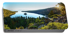 A New Day Over Emerald Bay Portable Battery Charger