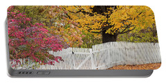 A New England Fall Portable Battery Charger by Alan L Graham