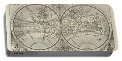 A New Map Of The Whole World With Trade Winds Herman Moll 1732 Portable Battery Charger
