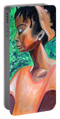 A New Queen Of Sheba Portable Battery Charger by Esther Newman-Cohen