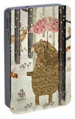 Portable Battery Charger featuring the painting A New Season by Bri B