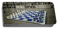 Portable Battery Charger featuring the photograph A Nice Game Of Chess by Lewis Mann