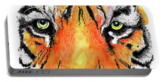 Portable Battery Charger featuring the painting A Nice Tiger by Terry Banderas