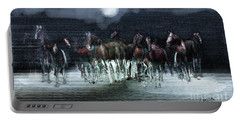 A Night Of Wild Horses Portable Battery Charger