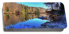 Portable Battery Charger featuring the photograph A November Morning On The Pond by David Patterson