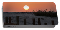 A November Sunset Scene Portable Battery Charger