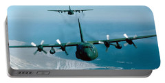 A Pair Of C-130 Hercules In Flight Portable Battery Charger