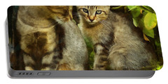 A Pair Of Feral Cats Portable Battery Charger