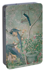 A Pair Of Magpie Jays  Vintage Wallpaper Portable Battery Charger by John James Audubon