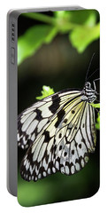 Portable Battery Charger featuring the photograph A Paper Kite Butterfly On A Leaf  by Saija Lehtonen