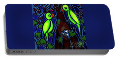 A Parrot Family In Wilderness Portable Battery Charger