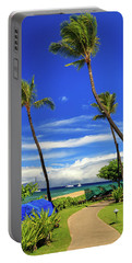 Portable Battery Charger featuring the photograph A Path In Kaanapali by James Eddy