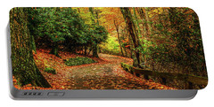 A Path Through Autumn Portable Battery Charger by Darren Fisher