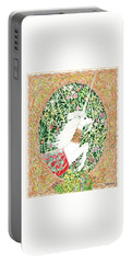 Portable Battery Charger featuring the painting A Pawn Escapes Limited Edition by Lise Winne
