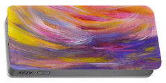 A Peaceful Heart - Abstract Painting Portable Battery Charger