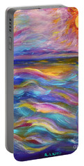 A Peaceful Mind - Abstract Painting Portable Battery Charger