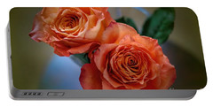 Portable Battery Charger featuring the photograph A Peach Delight by Diana Mary Sharpton
