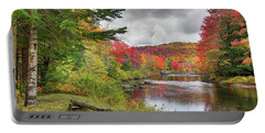 A Place To View Autumn Portable Battery Charger by David Patterson