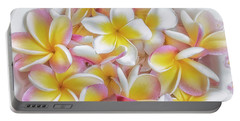 A Plate Of Plumerias Portable Battery Charger