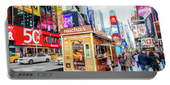 A Portable Food Stand In New York Times Square Portable Battery Charger