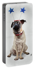 A Pug's Life Wordless Portable Battery Charger by Rob Snow