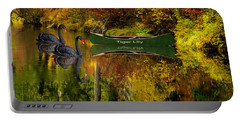Portable Battery Charger featuring the photograph A Quiet Autumn Evening by Diane Schuster