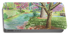 A Quiet Stroll In The Japanese Gardens Of Gibbs Gardens Portable Battery Charger